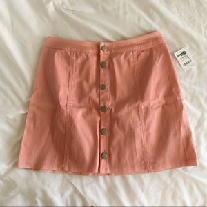 Charlotte Russe Pink Button Up Mini Skirt
